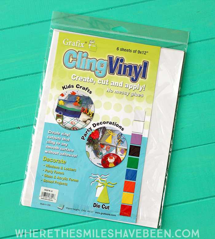 Inspiring Crafty Window Clings with Transparent Glitter Vinyl + GIVEAWAY!   Where The Smiles Have Been