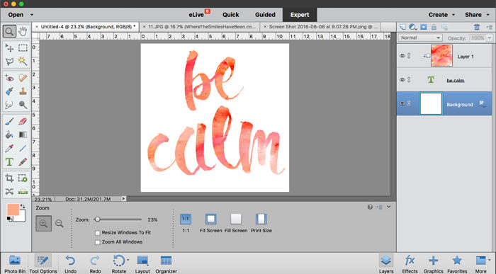 How to Fill an Image or Word with a Picture in Photoshop: A Clipping Mask!   Where The Smiles Have Been
