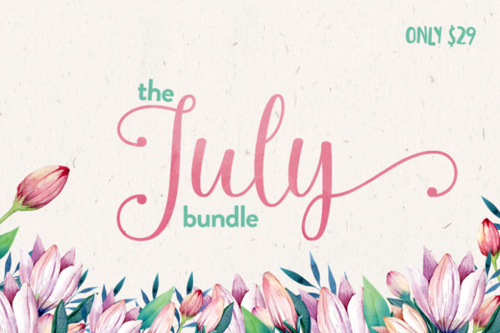 Enter to win the July Bundle Giveaway sponsored by The Hungry JPEG & Where The Smiles Have Been!
