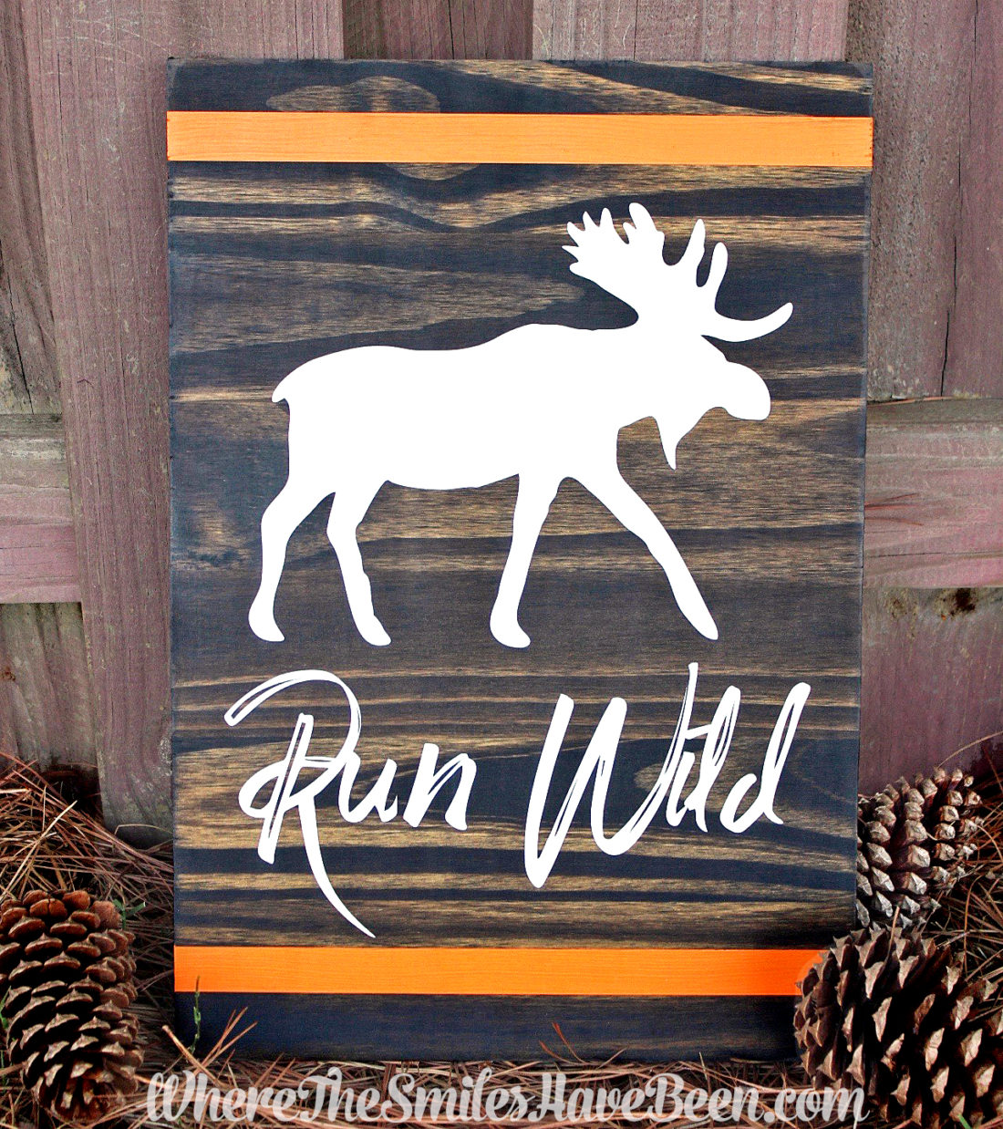 Rustic Woodland Animal Nursery Sign | Where The Smiles Have Been