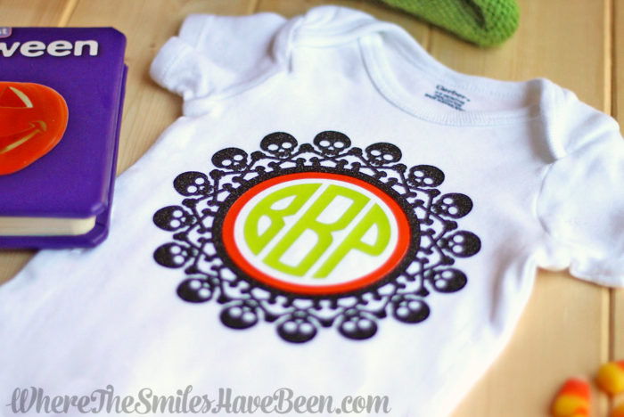Spooktacular Monogram Onesie for Baby's First Halloween + GIVEAWAY!   Where The Smiles Have Been