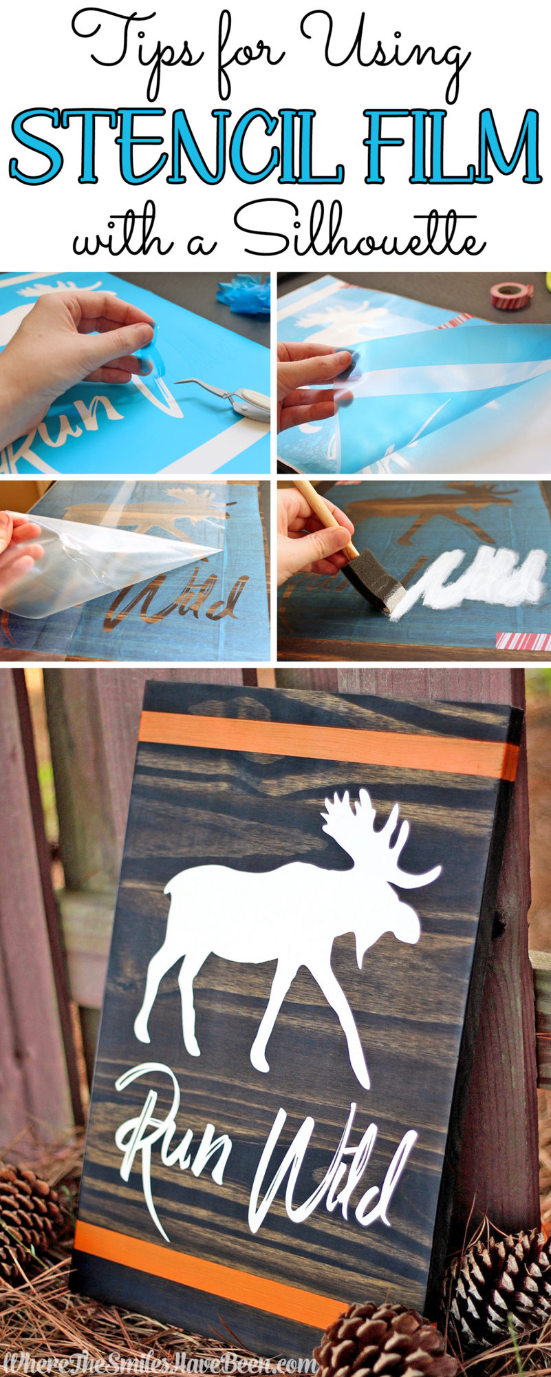 How to Use Stencil Film with Cutting Machines like a Silhouette or Cricut!