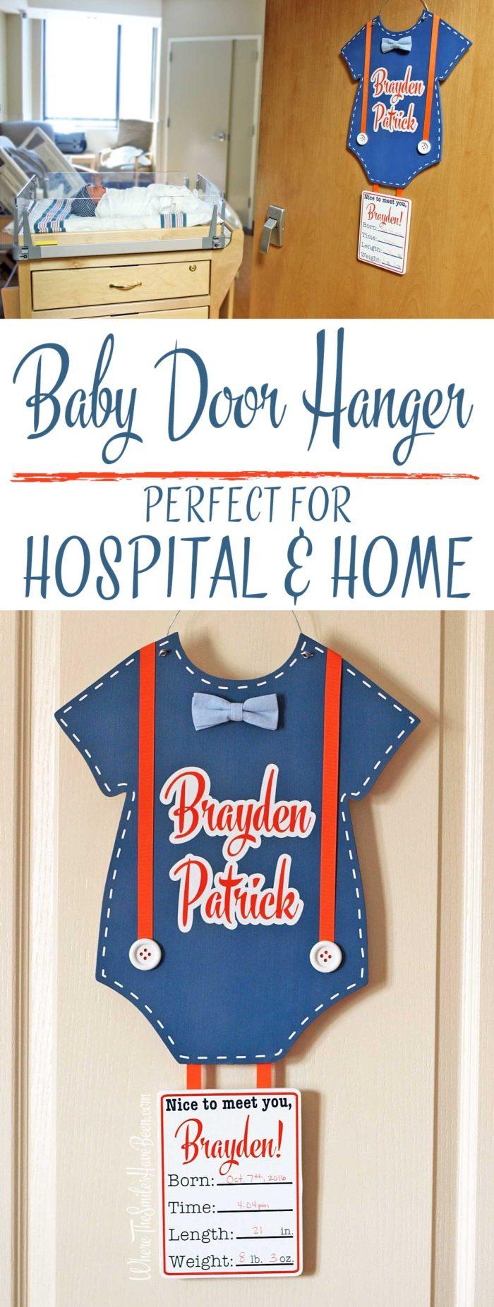Personalized Baby Door Hanger for Hospital & Home.