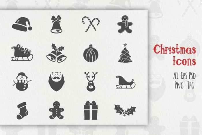 Christmas Icons from DesignBundles.net!