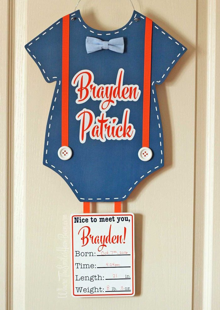 Personalized Baby Door Hanger for Hospital & Home   Where The Smiles Have Been
