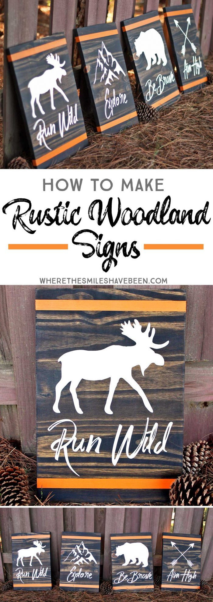 How to Make Rustic Woodland Signs.