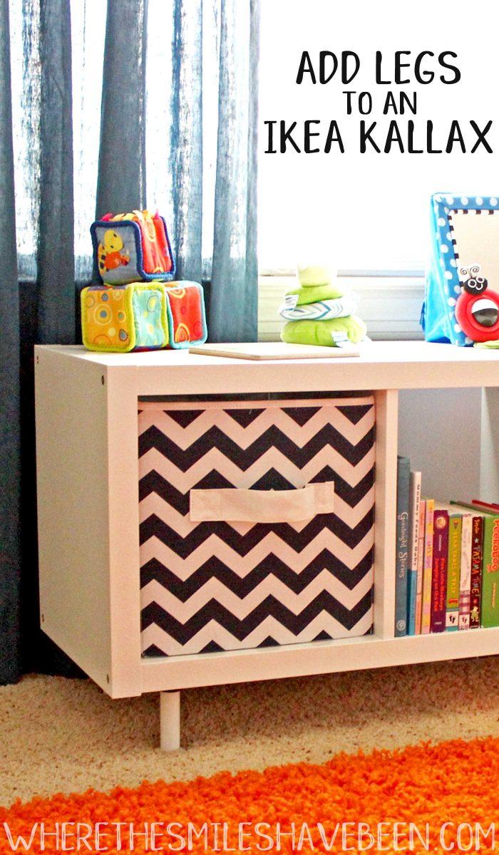 The Super Easy Way to Add Legs to an IKEA Kallax Shelf.