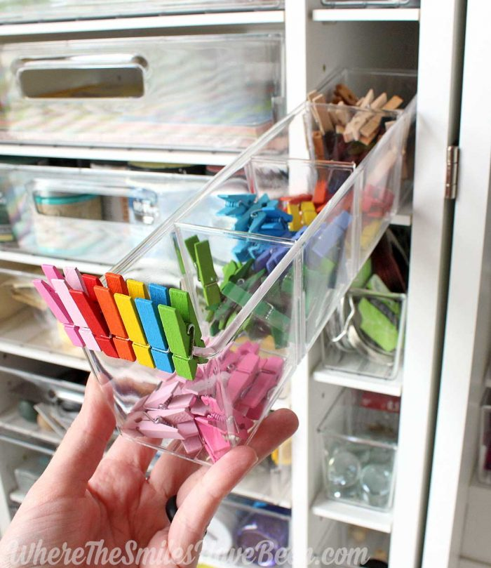WorkBox 3.0 Review: clear plastic totes in shelves.