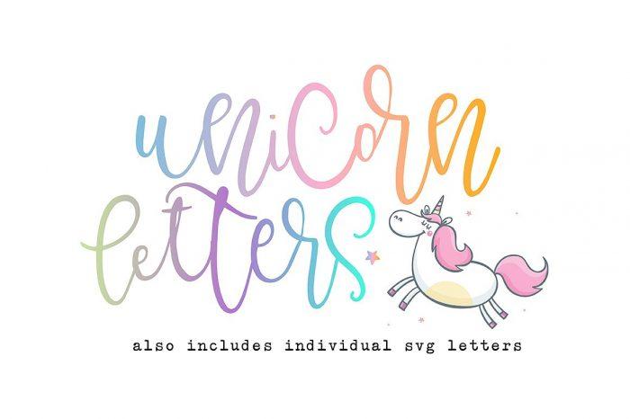 Unicorn Letters Font!