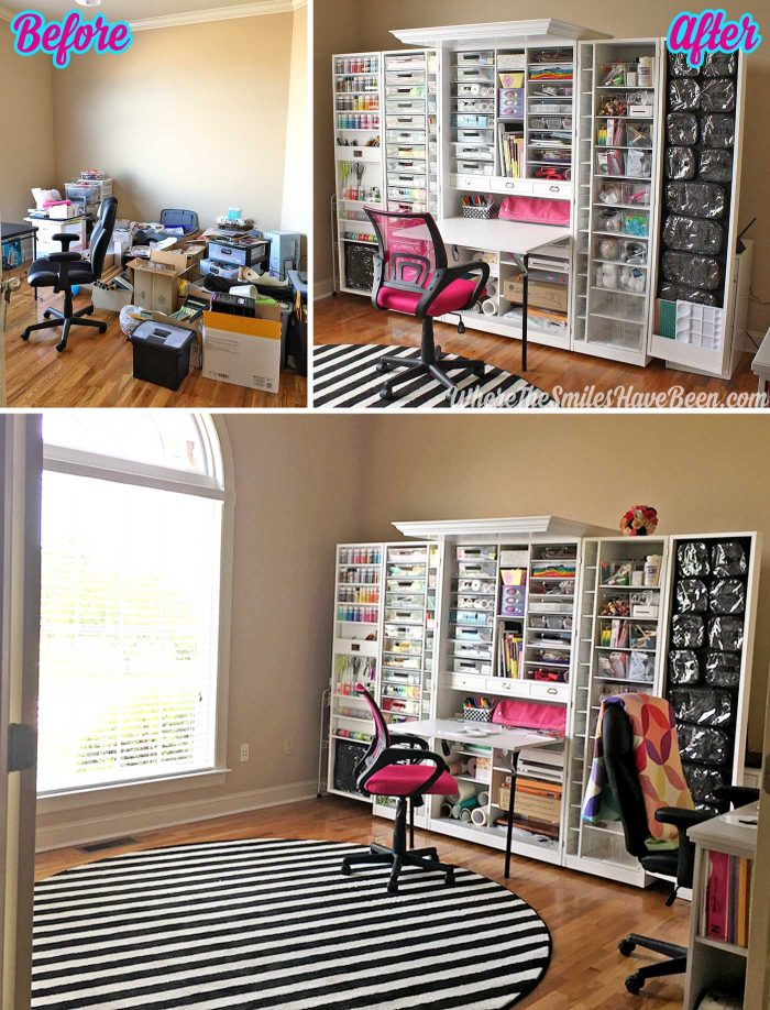 WorkBox 3.0 Review: Craft room before and after.