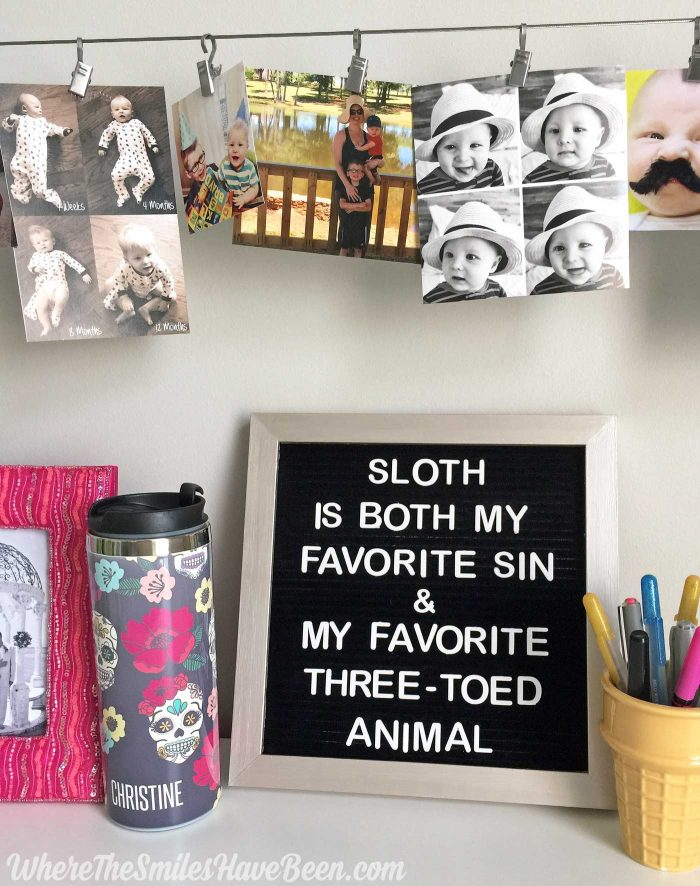 Colorful Craft Room Gallery Wall + $100 Erin Condren Giveaway! | Where The Smiles Have Been