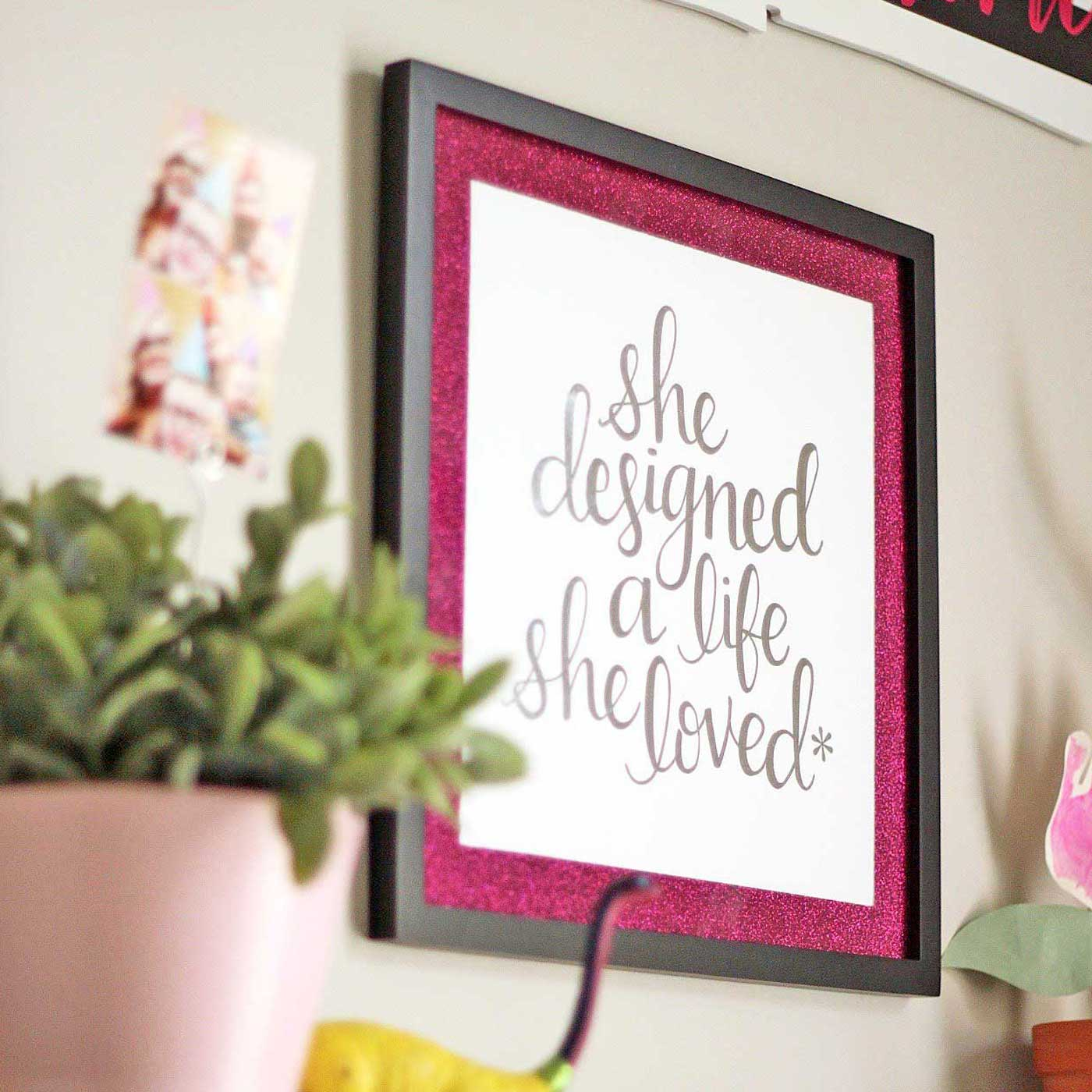 Easy & Inexpensive DIY Picture Frame Mats from Glitter Cardstock   Where The Smiles Have Been