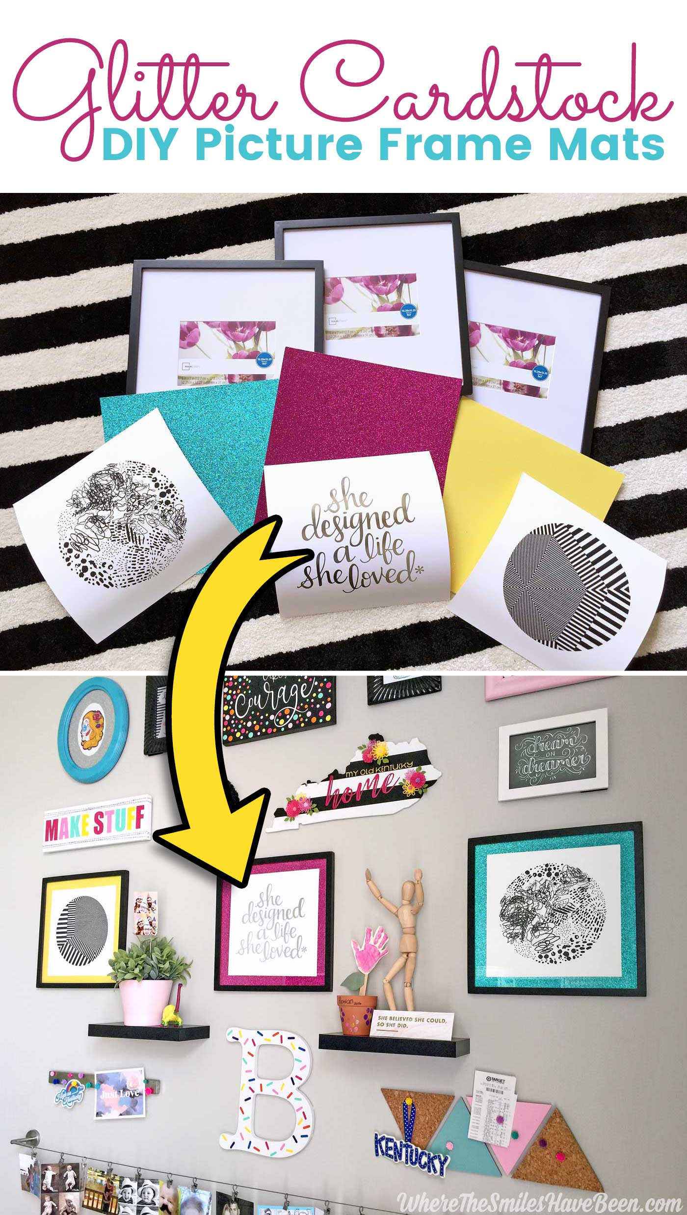 how to make a cardstock picture frame