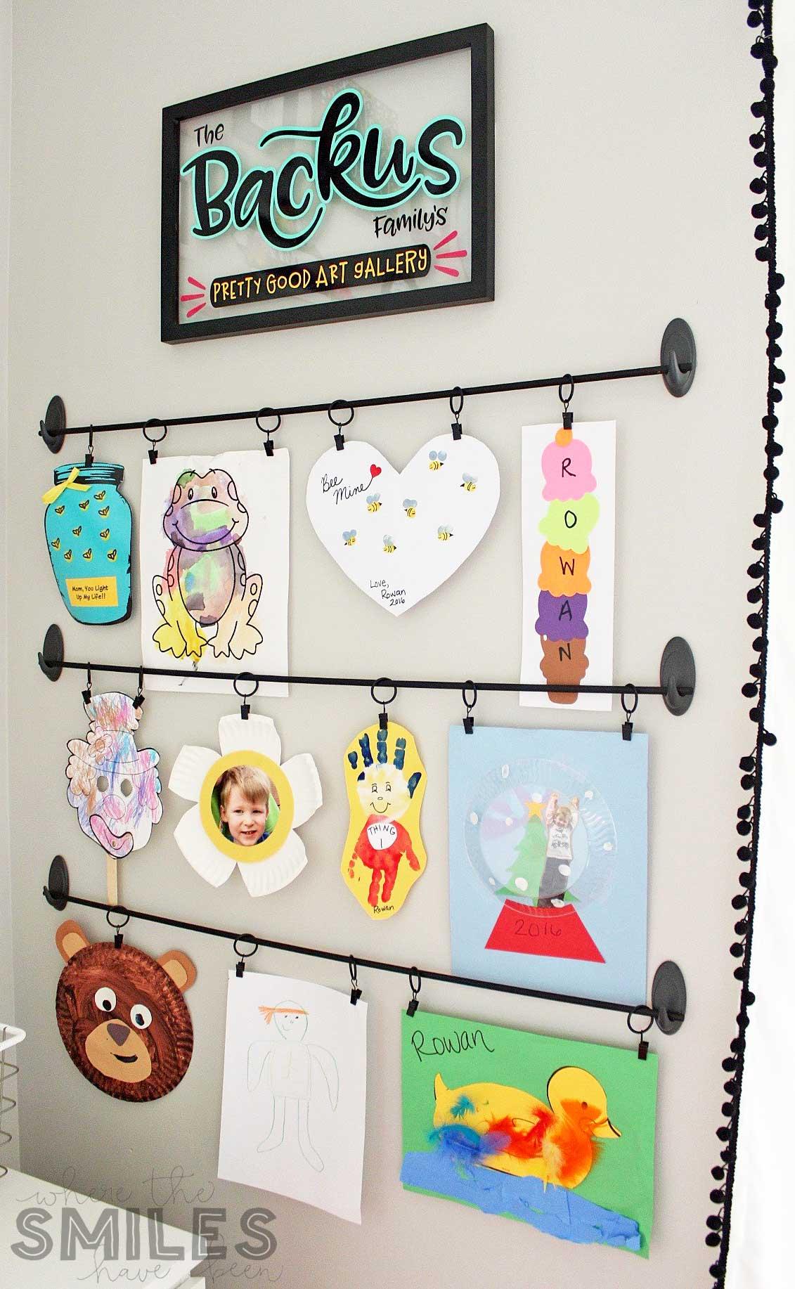 Kids Art Display.
