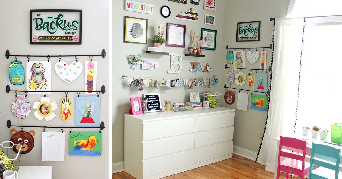 sc 1 st  Where The Smiles Have Been & Easy DIY Kids Art Display: Simple Inexpensive u0026 No Damage!
