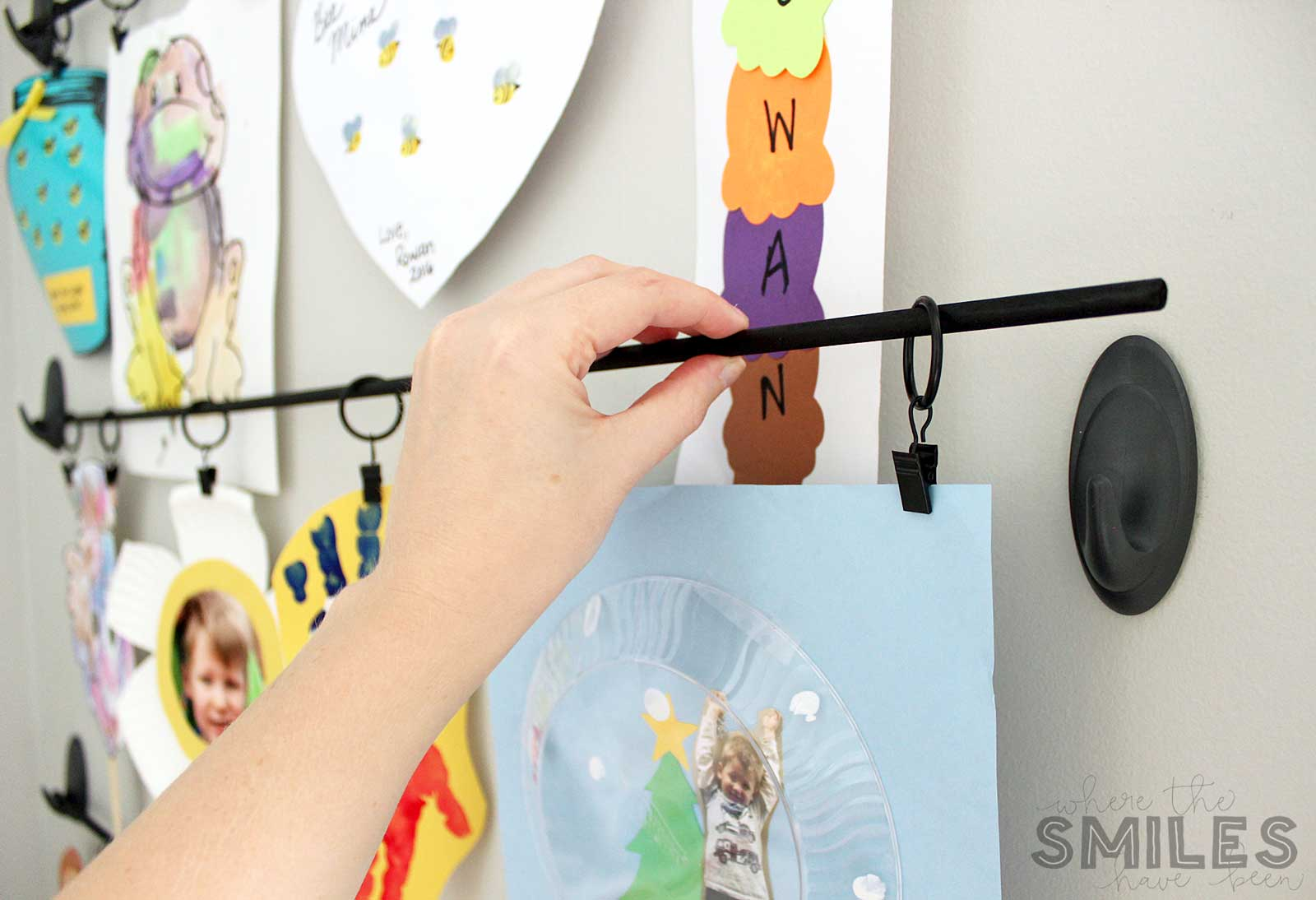 How to hang a Kids Art Display.