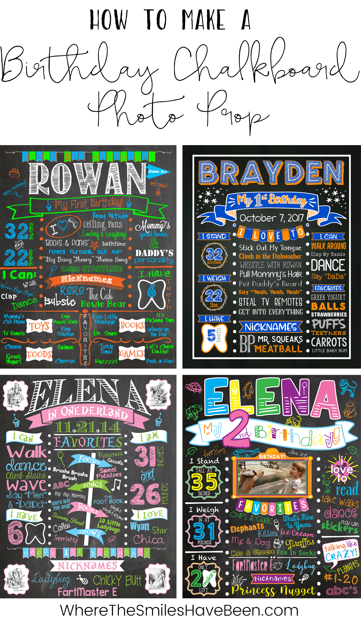 How to Make a Birthday Chalkboard Photo Prop.
