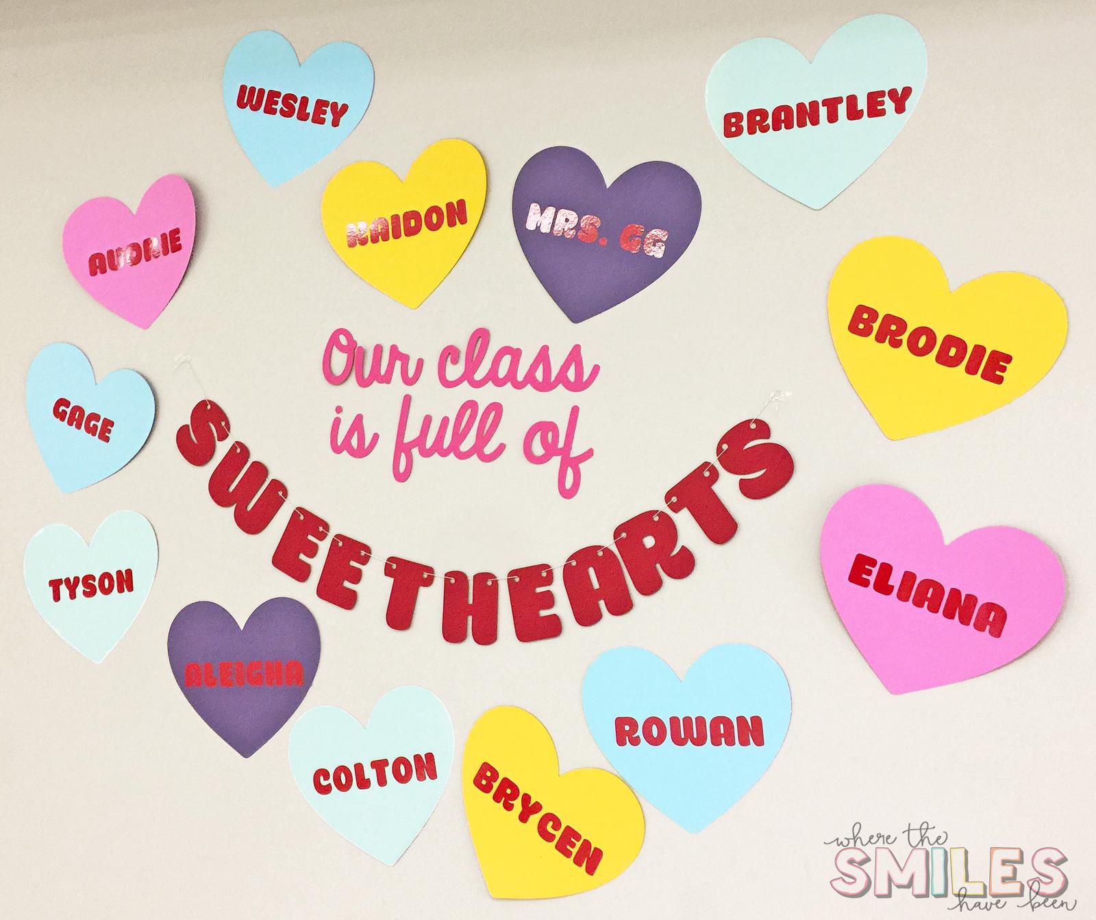 Classroom Valentine's Day Decor
