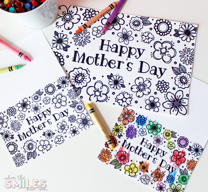 Free Printable Mother's Day Card & Coloring Page.