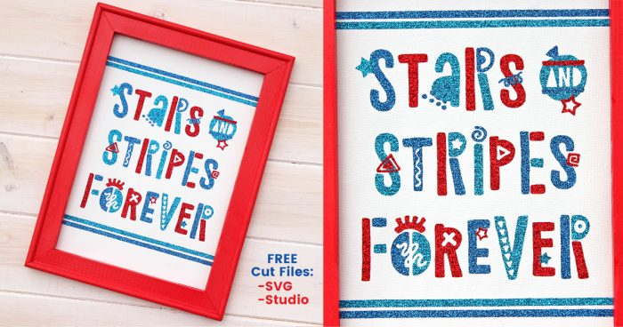 Funky Fourth of July Sign + FREE Cut File & Font GIVEAWAY! | Where The Smiles Have Been #FourthOfJuly #4thOfJuly #USA #patriotic #summer #Silhouette #Cricut #HTV #reversecanvas