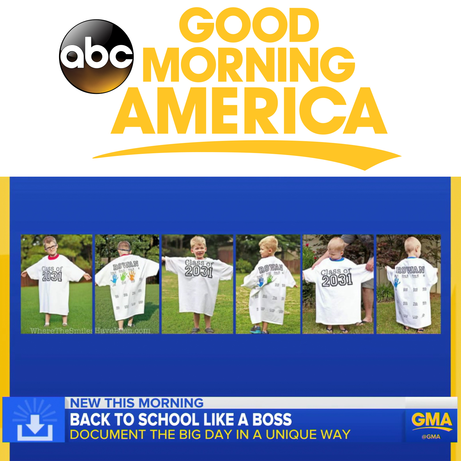 Exciting News: Good Morning America Featured WTSHB! | Where The Smiles Have Been