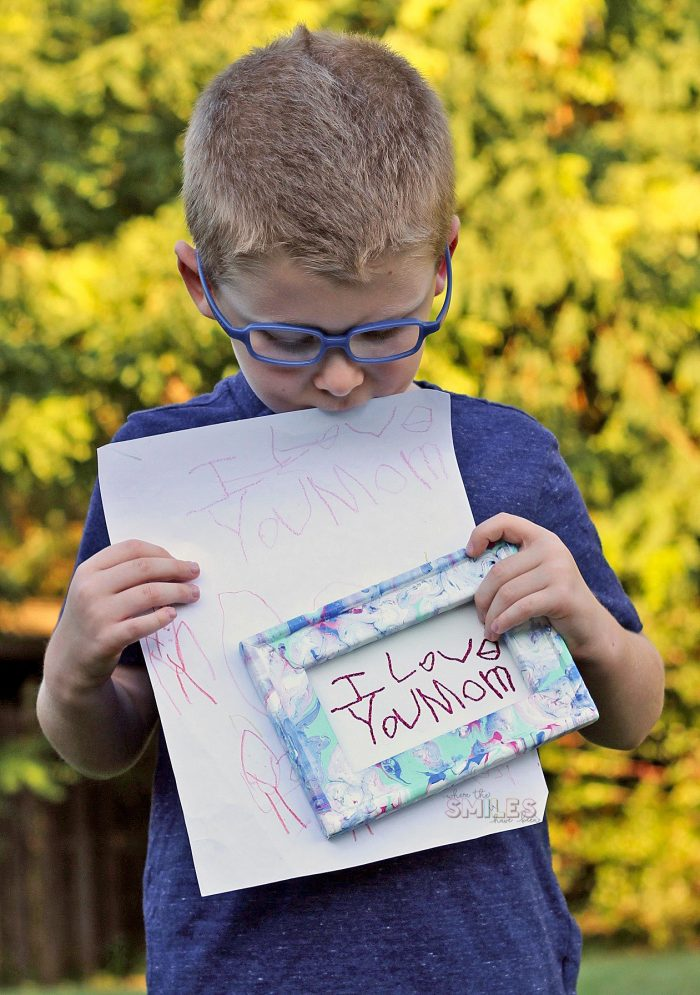 How to Turn a Note or Drawing into Framed Art!   Where The Smiles Have Been #handwriting #kidsart #paintpouring #reversecanvas #HTV #Silhouette #Cricut