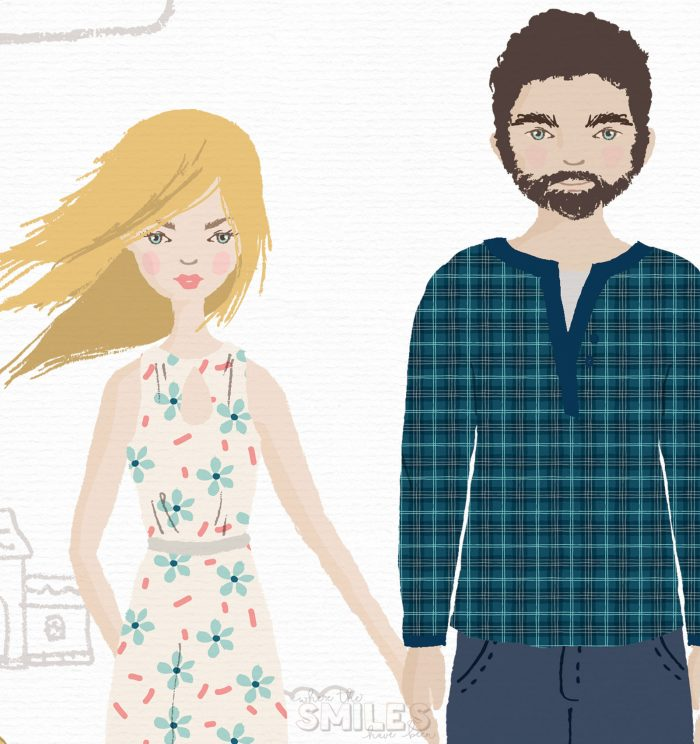 Make Your Own Illustrated Family Portrait - No Drawing Skills Required! | Where The Smiles Have Been #portrait #familyportrait #Photoshop #Illustrator #graphicdesign #homedecor #giftidea #wedding #Christmascard #profilepic