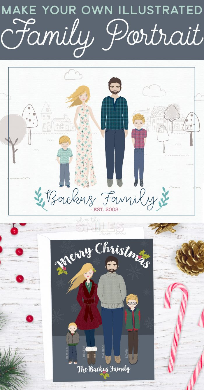 Make Your Own Illustrated Family Portrait.