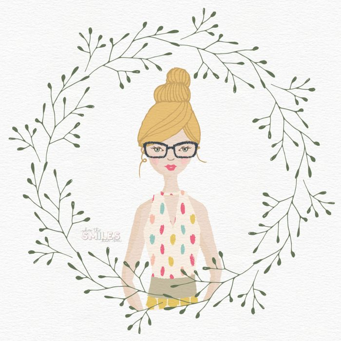 Illustrated Self-Portrait - No Drawing Skills Required! | Where The Smiles Have Been #portrait #familyportrait #Photoshop #Illustrator #graphicdesign #homedecor #giftidea #wedding #Christmascard #profilepic