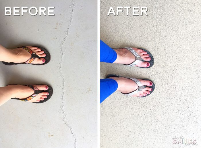 Before and After repainted porch using RollerRock.