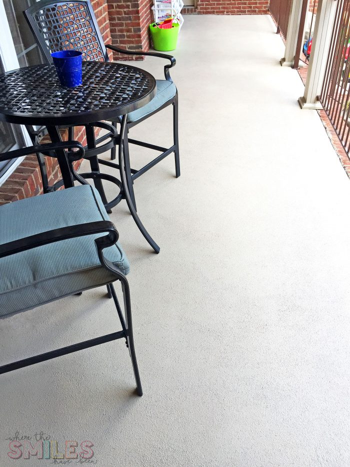 How to Repaint a Porch with Roller Rock Rollable Stone Coating.
