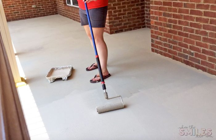 How to Repaint a Porch with Rollable Stone Coating.