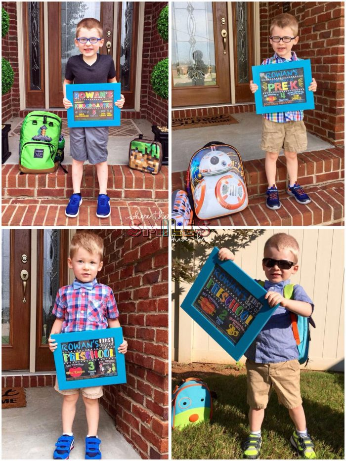 First Day of School picture collage.