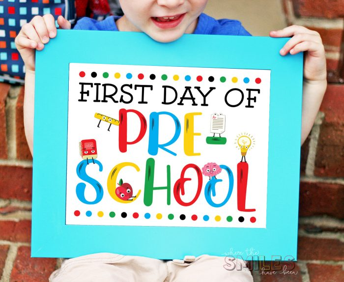FREE First Day of School Sign Printables.