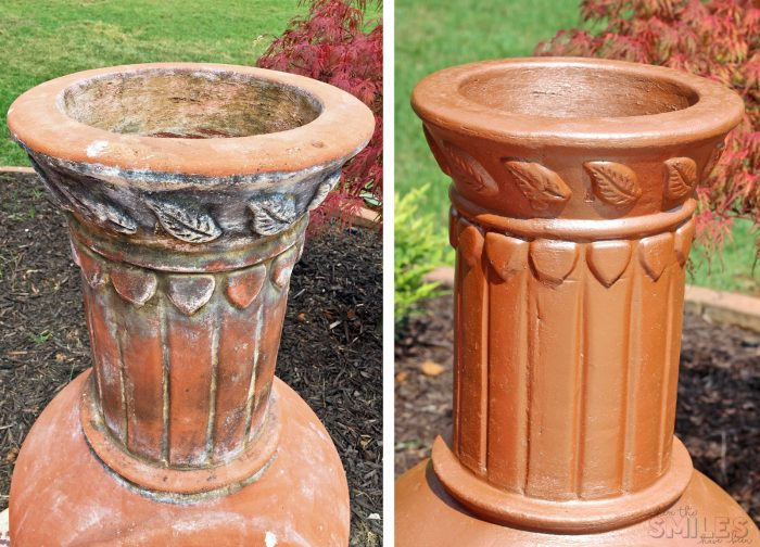 How to Bring an Aged Chiminea Back to Life with Spray Paint! | Where The Smiles Have Been #chiminea #firepit #backyard #patio #DIY #makeover #upcycle #highheatspraypaint #copper #copperspraypaint #beforeandafter
