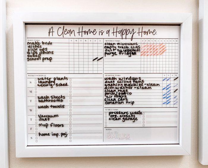 Hallway Family Command | Where The Smiles Have Been #commandcenter #familycommandcenter #home #organization #mealplanning #planner #cleaning #cleaningchecklist #chorechart #calendar #backtoschool #schoolorganization #growthchart