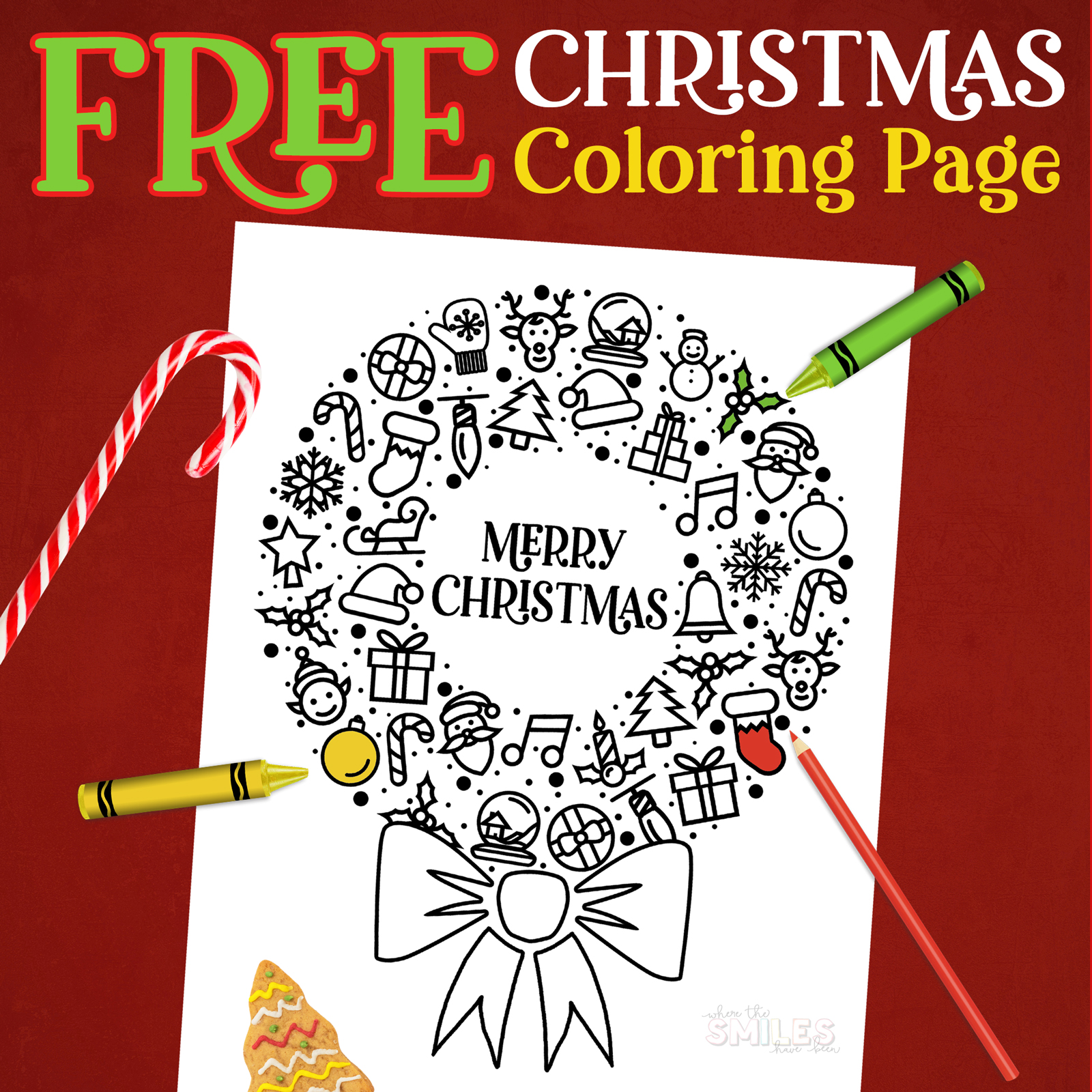 FREE Christmas Coloring Printable