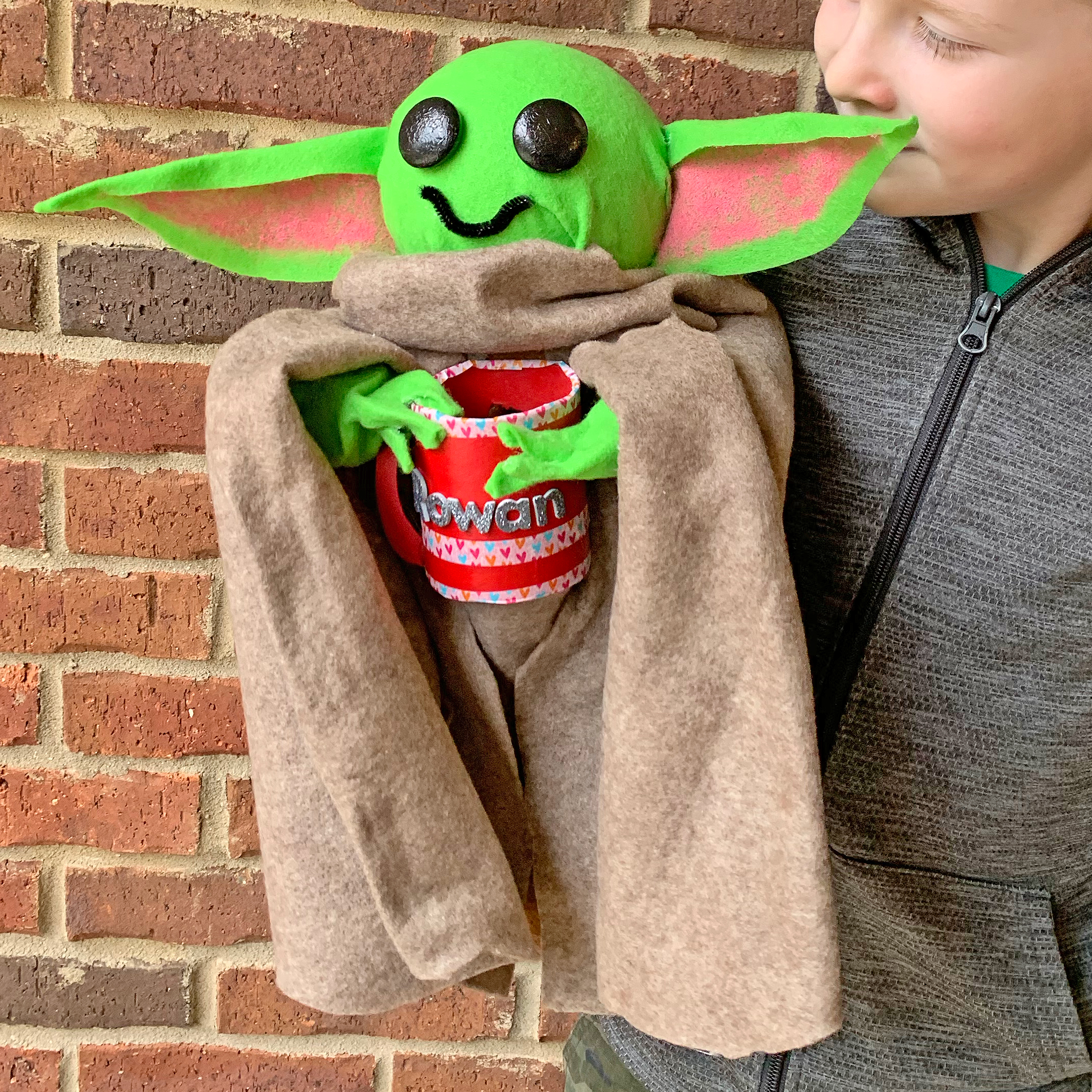 Baby Yoda Valentine Card Box