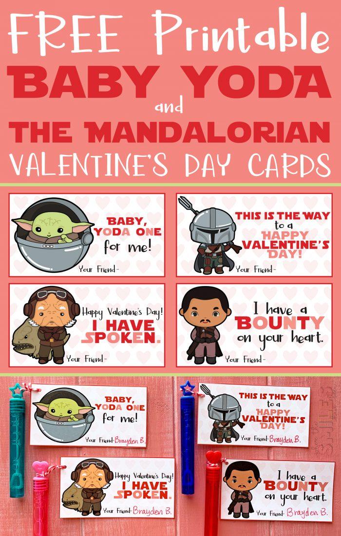 FREE Printable Baby Yoda & The Mandalorian Valentine's Day Cards | Where The Smiles Have Been #ValentinesDay #Valentine #ValentinesDayCards #FreeValentinesDayCards #StarWars #Yoda #BabyYoda #TheChild #TheMandalorian #ThisIsTheWay #Mando #FreePrintable #SchoolValentine
