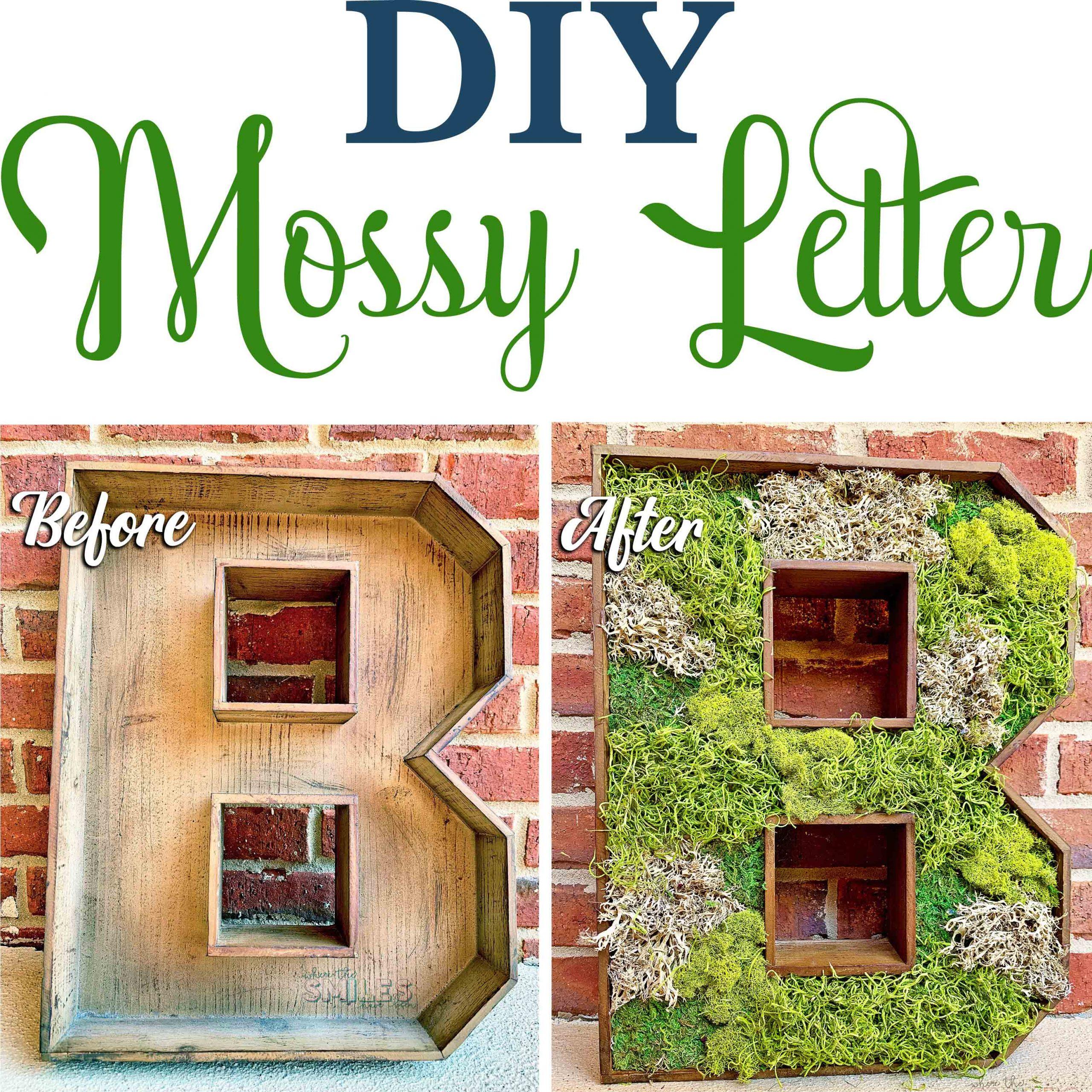Wood Moss Letter
