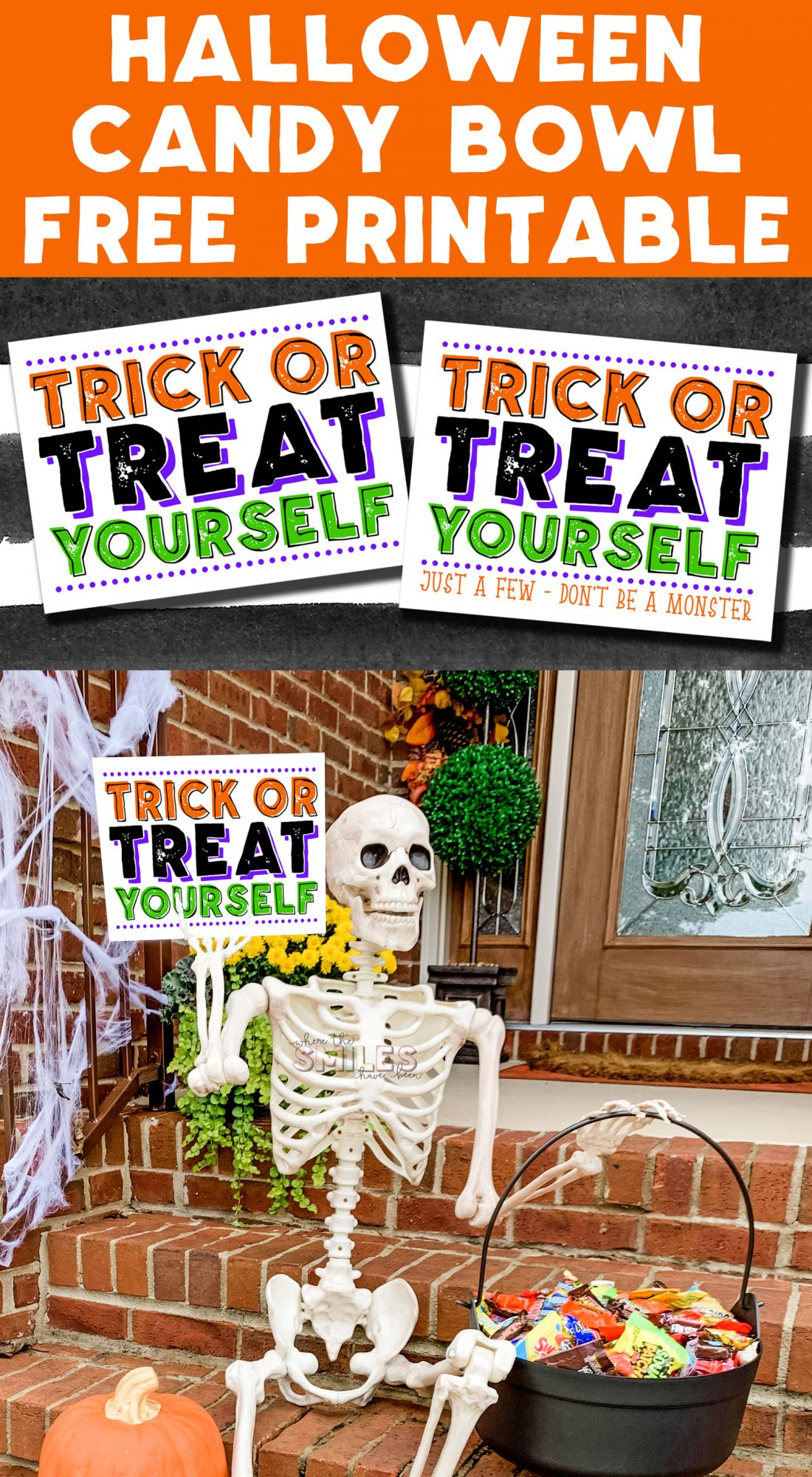 FREE Halloween Candy Bowl Printable Sign: Trick or Treat Yourself!