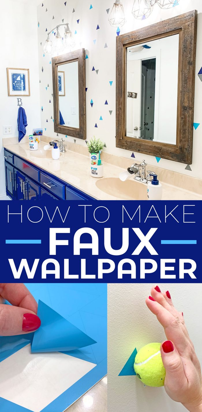 How to Make Faux Wallpaper.