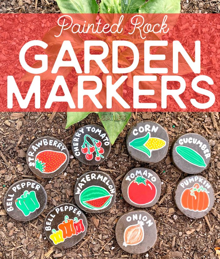 Easy DIY Painted Rock Garden Markers