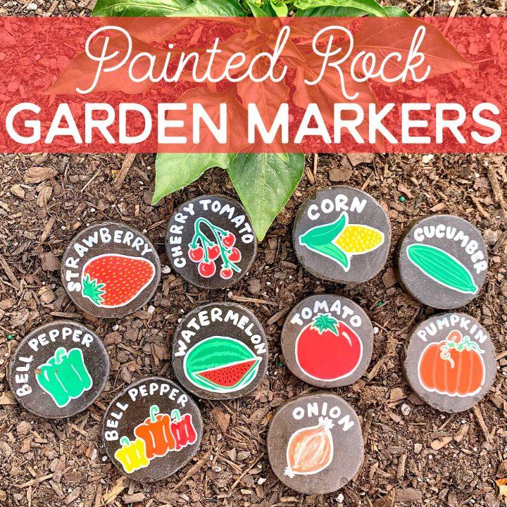 Easy DIY Painted Rock Garden Markers.