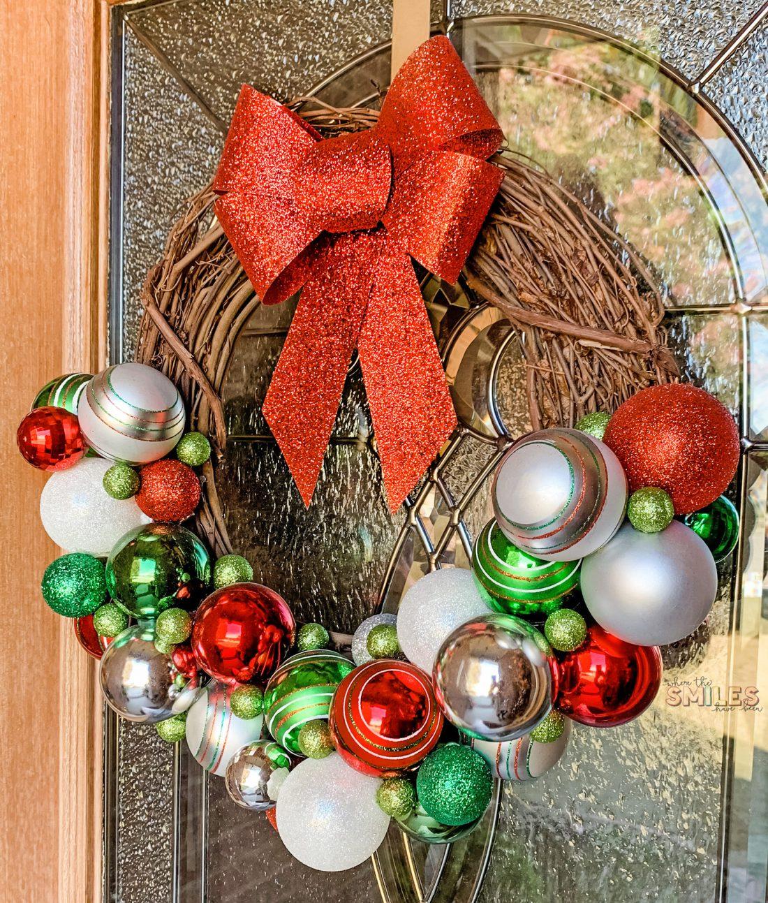 DIY Christmas Ornament Wreath: Rustic Meets Refined!